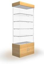 Изготовление стеклянных витрин,  шкафов